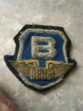EARLY Bullion Patch BRINK'S ARMORED CAR SERVICE
