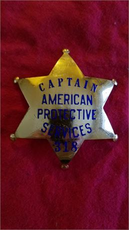 American Protective services Captain hallmarked REDUCED