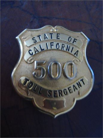 TOLL SERGEANT State Of California SAN FRANCISCO OAKLAND BAY BRIDGE Gold Tone